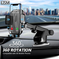 Car Phone Holder Mobile Phone Holder Stand in Car No Magnetic GPS Mount Support For iPhone 11 Pro Xiaomi Samsung