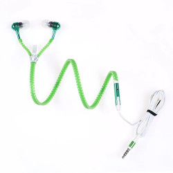 Luminous Earphone Popular Glowing in Dark Zipper In-Ear Sports Headset Wired Handfree Stereo Earphones With Cool Microphone