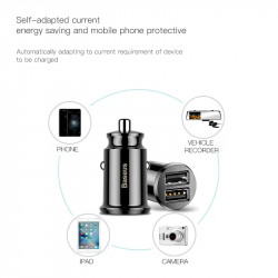 Baseus Dual USB Car Charger 3.1A Fast Car Charging Auto Charge Adapter For iPhone Samsung USB Car-Charger Mobile Phone Charger