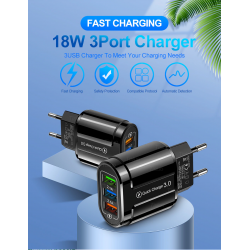 GTWIN 3 USB Fast Charger Quick Charge 3.0