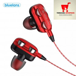 Dual Bass Wired Sports Earphones With Mic