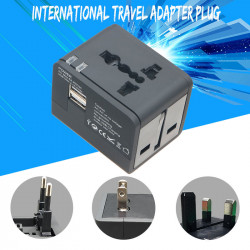 International Universal Travel Adapter With 2 USB