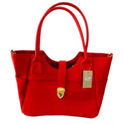 Women's Red PU Leather Casual Handbag WB 100271