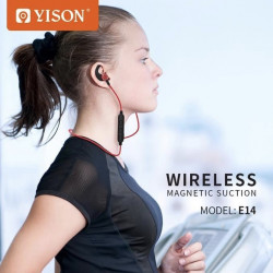 Yison E14 Bluetooth 4.2 Earphone Wireless Earphones Magnetic Stereo Handsfree Earbuds Sport Music Headphone For mi 5g phone