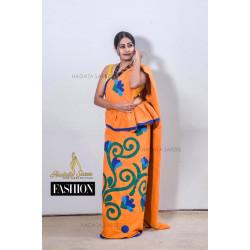 Handmade patchwork cotton saree
